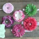 DIY Silk Flower Headbands