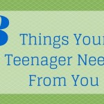 Three Things Your Teenager Needs From You