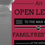 Open Letter to the Man Using the Family Restroom at the Airport
