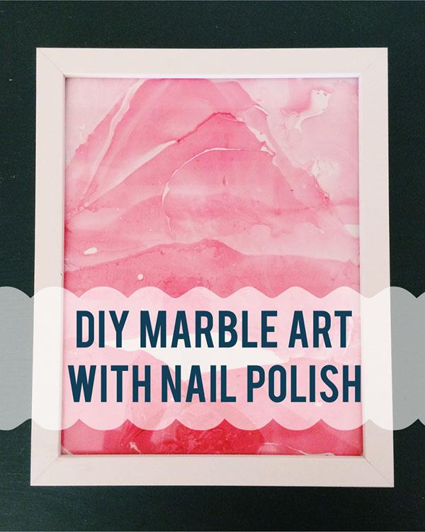 Diy Marble Art With Nail Polish