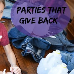 Birthday party ideas for ways to give back