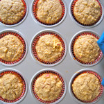 A Little Taste Of Autumn:  Apple Oat Muffins