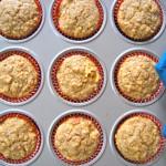 A Little Taste Of Autumn:  Apple Oat Muffins
