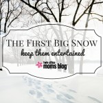 The First Big Snow: Keeping Them Entertained