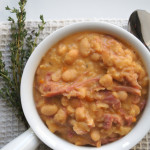 Slow Cooker Smokey Ham and White Bean Soup