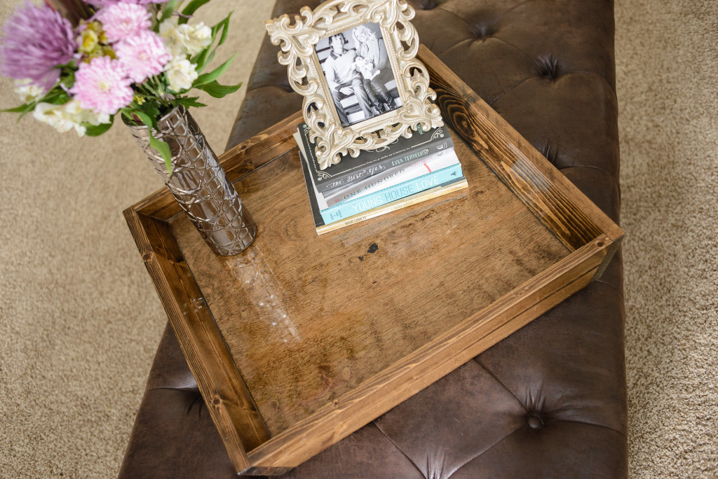 DIY Ottoman Serving Tray | Twin Cities Moms Blog