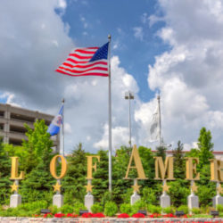 Bloomington, United States - June 23, 2014: The entrance to the Mall of America. The Mall of America (MoA) is a shopping mall owned by the Triple Five Group.