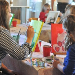5 Ways to Inspire Your Child's Creativity Painting Mom and Child