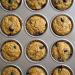 Deliciously Healthy Blueberry-Banana Muffins