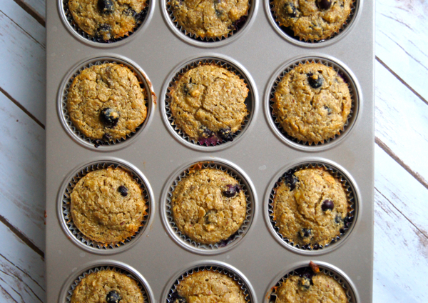 Deliciously Healthy Blueberry-Banana Muffins | Twin Cities Moms Blog
