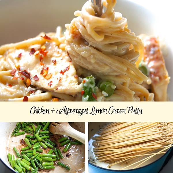 Family Favorite Weeknight Meal: One Pot Chicken + Asparagus Lemon Cream Pasta   Twin Cities Moms Blog