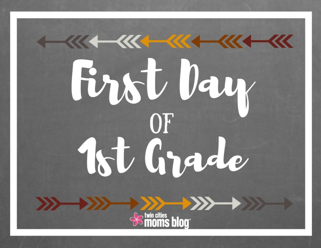 It's just a graphic of First Day of 1st Grade Printable Sign with easy