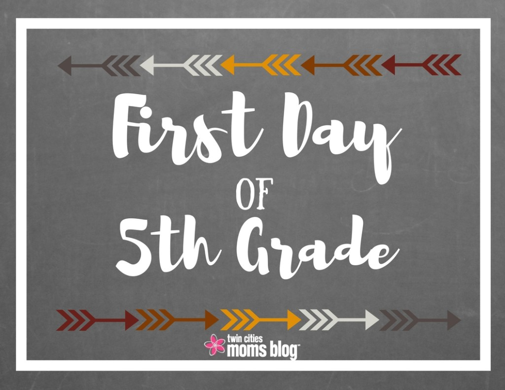 photo about First Day of 5th Grade Printable named Initial Working day of Faculty Signs and symptoms: Cost-free Printable