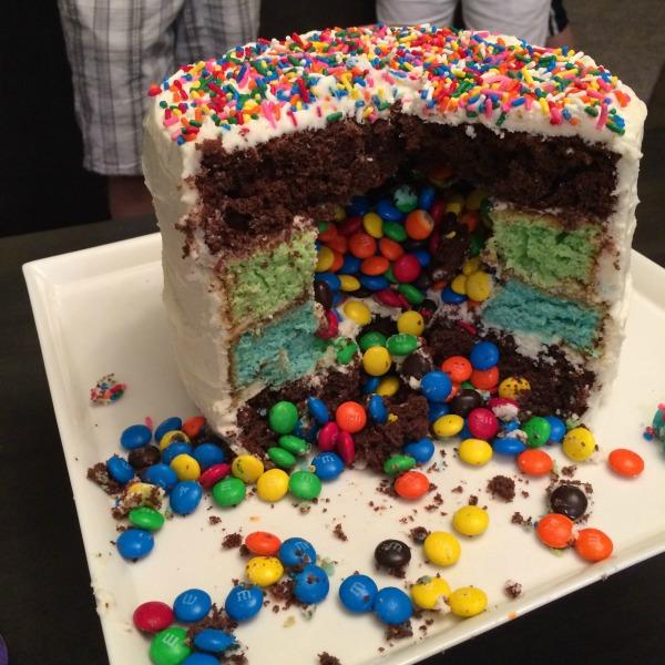 Sensational Birthday Layer Cake With Surprise Mms Filling Funny Birthday Cards Online Hendilapandamsfinfo