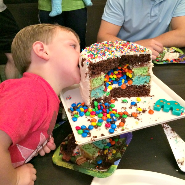 Birthday Layer Cake with Surprise M&MS Filling | Twin Cities Moms Blog