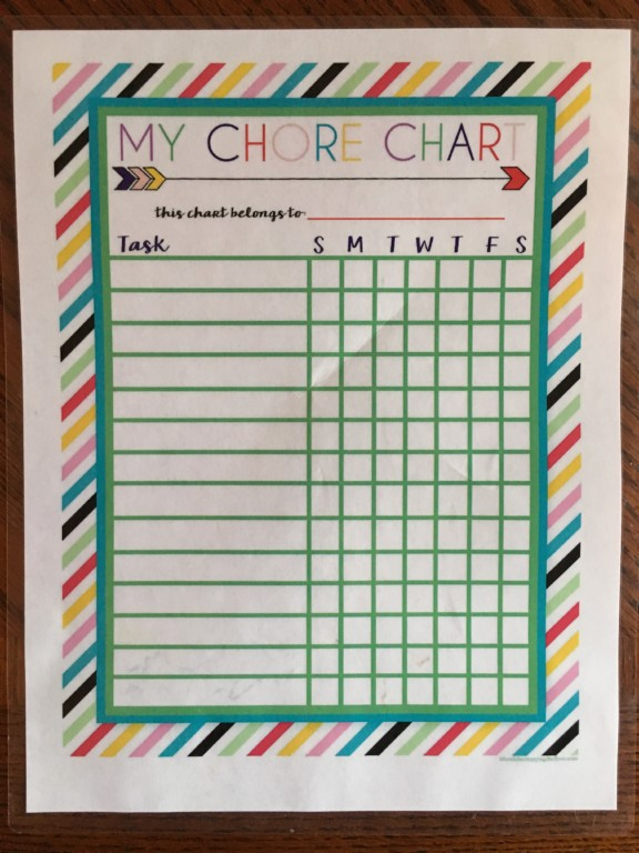 When the Going Gets Tough, the Tough Get Charts | Twin Cities Moms Blog