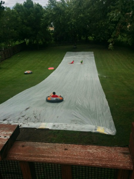 An Epic DIY Slip 'n Slide | Twin Cities Moms Blog