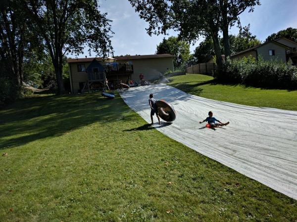 An Epic DIY Slip 'n Slide | Twin Cities Moms Blog