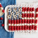 July 4th Flag Cake Skewers