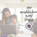 2017 Neighborhood Groups Survey