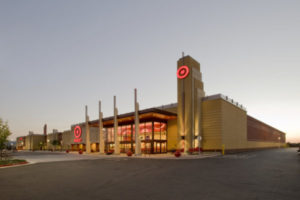 Gilroy, CA, USA - July, 16 2008: Target Store at dusk. Target, an American big box retailer, is the anchor tenant for this new shopping center.