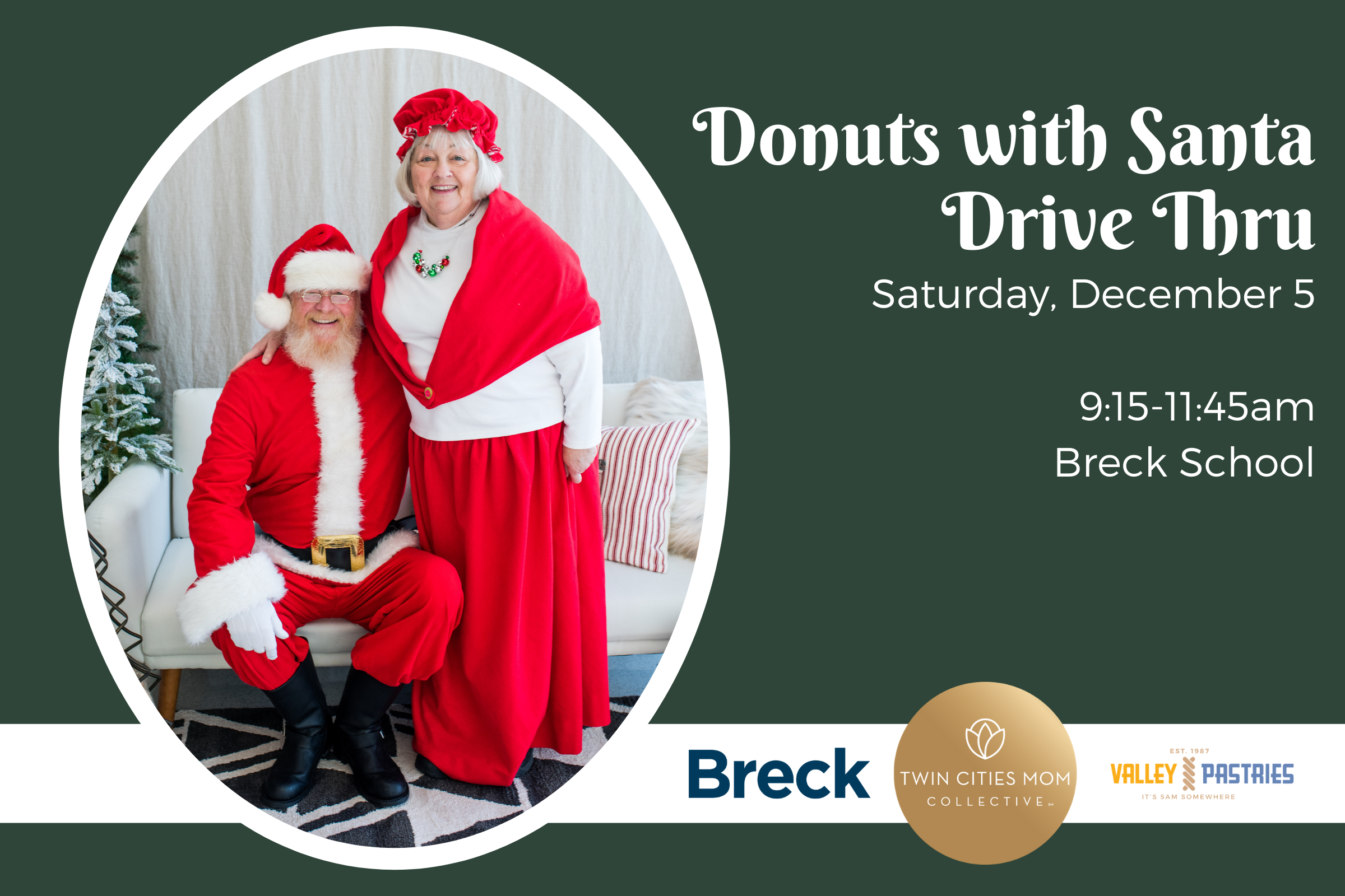 Christmas Events 2020 Twin Cities 2020 Donuts with Santa Drive Thru Event
