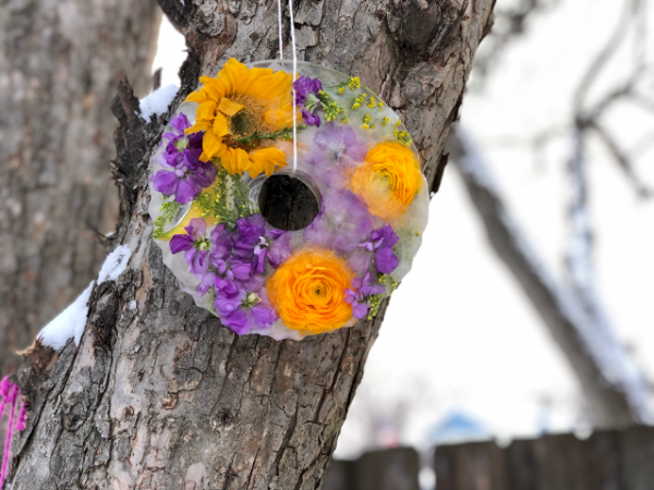 Winter DIY: Flower Icicles – An Easy Way To Brighten Your Yard | Twin Cities Mom Collective