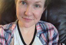 Dr. Erin Stevens breastfeeding her new born baby