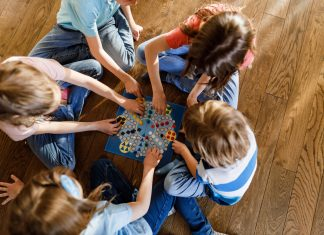 group of children playing games for kids and family