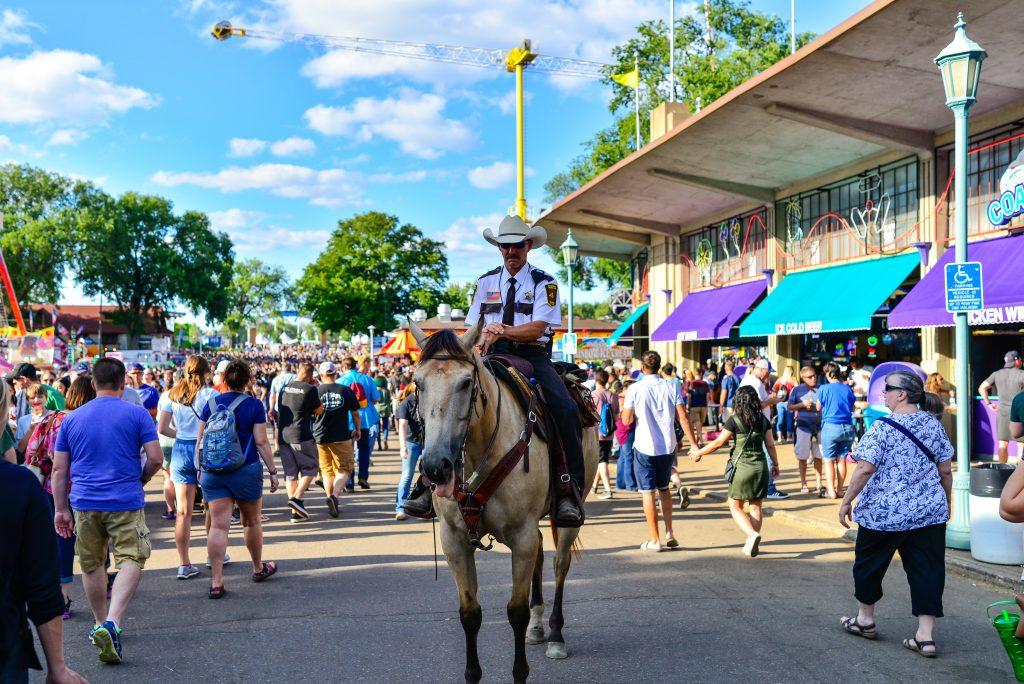 Police Officer on horseback at the Minnesota State Fair