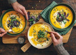 fall comfort foods - pumpkin soup